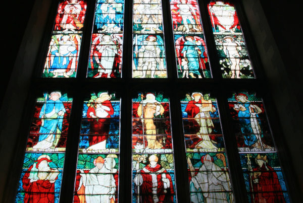 Jesus College Chapel - temporary printed stained glass replacement