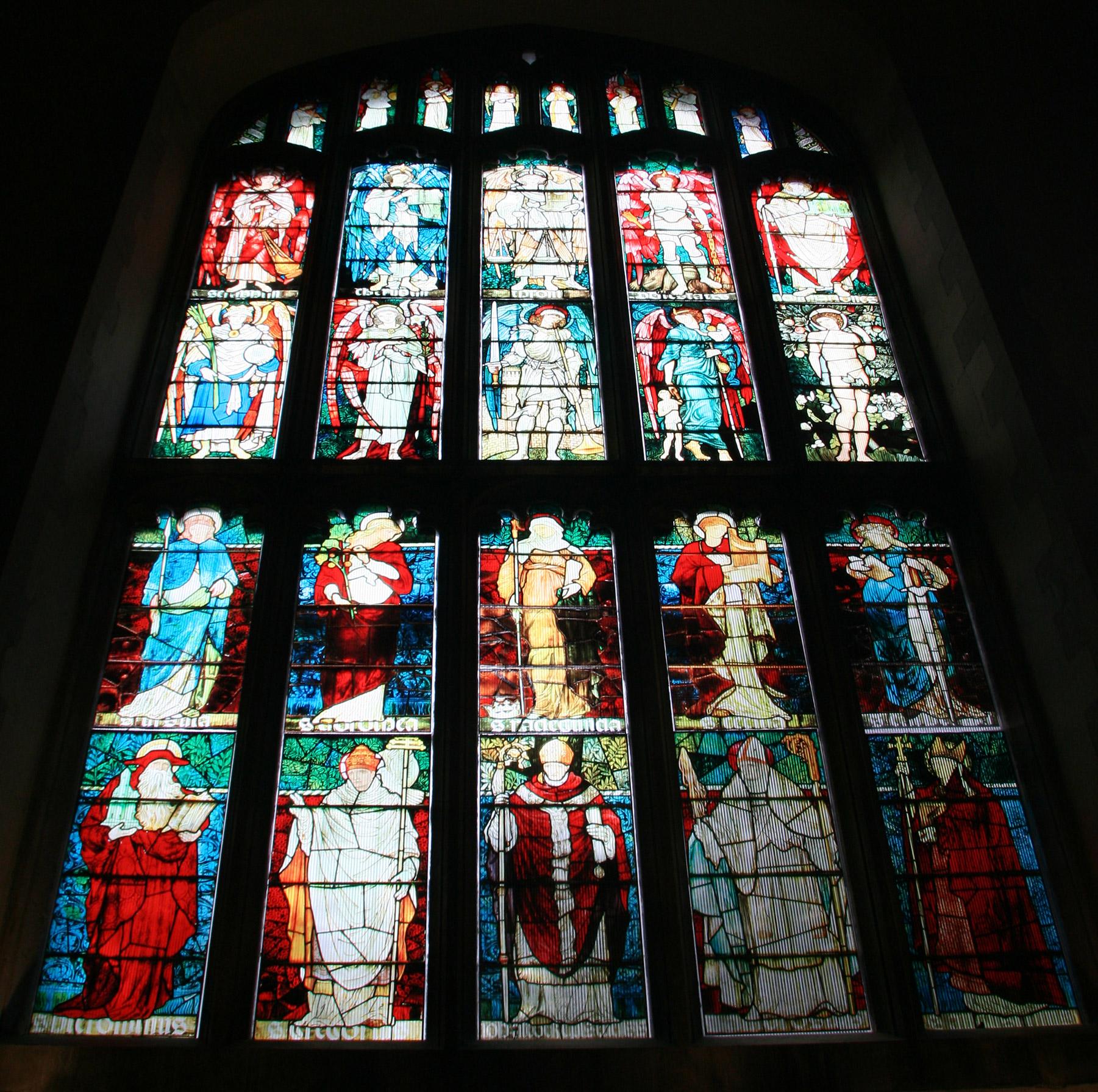 Cambridge College Chapel window